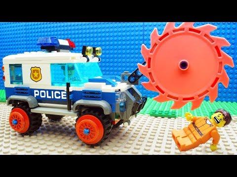 Lego Bulldozer Steamroller Police Car Fail