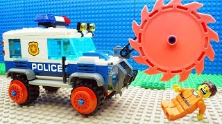 Lego Bulldozer Steamroller Police Car Fail