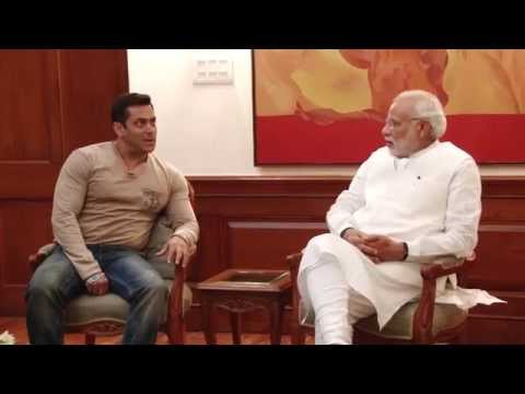 Actor Salman Khan calls on PM Modi