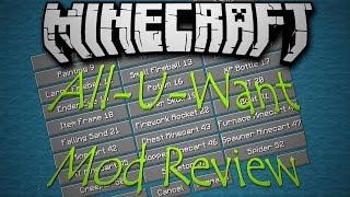 Minecraft 1.7.10: All-U-Want Mod Review!
