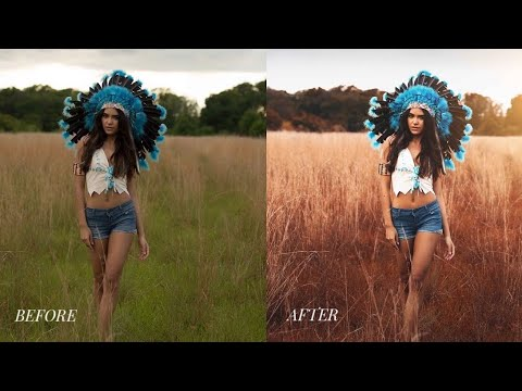 photoshop cc tutorial outdoor portrait editing