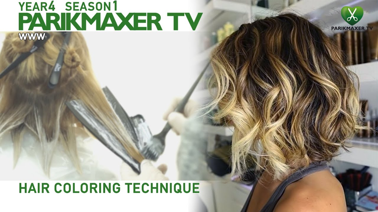 Техника нанесения блондора. How to color hair in blonde парикмахер тв parikmaxer.tv