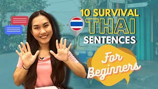 10 SURVIVAL THAI SENTENCES FOR BEGINNERS!