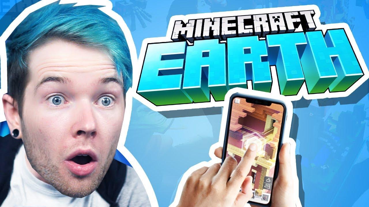 Auf das NEUE MINECRAFT-SPIEL reagieren! (Minecraft Earth) + video