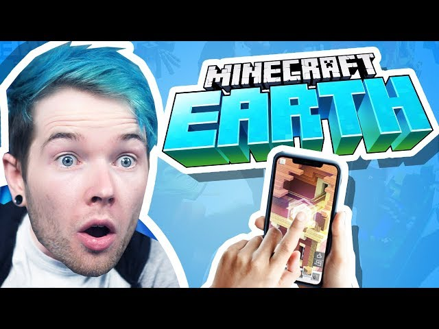 Reacting to the NEW MINECRAFT GAME! (Minecraft Earth)