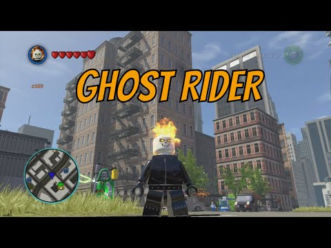 LEGO Marvel Superheroes - Ghost Rider Free Roam Gameplay Travel Video