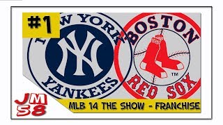 MLB 14 The Show - Yankees & Red Sox Franchise [Ep 1]