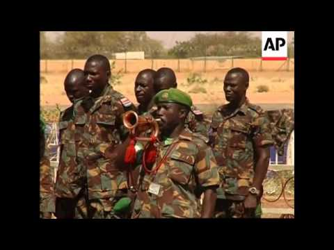 Ceremony for five African peacekeepers killed in Darfur