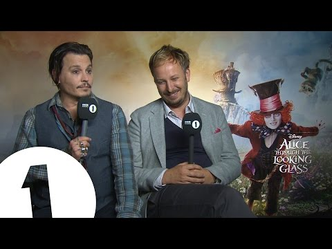 Johnny Depp goes through the looking glass with Greg James