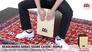 MEINL Percussion - MEINL Percussion - Headliner® Series Snare Cajon, Maple - MCAJ100BK-MA