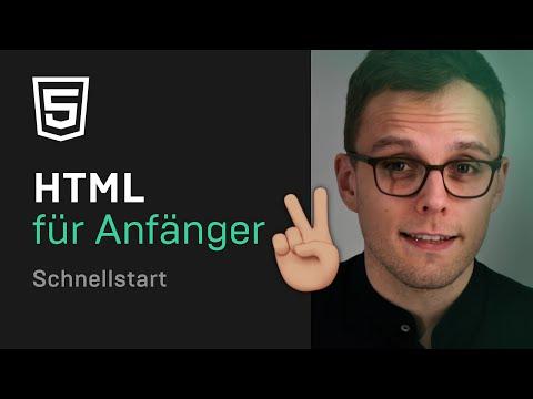 HTML Tutorial Für Anfänger 🚀 — Deutsch
