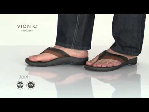 3f5e40cf4f8 Vionic with Orthaheel Technology Joel Men s Sandal - YouTube