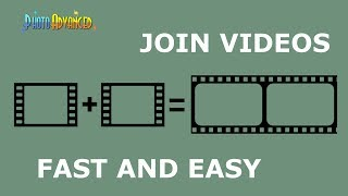 How to Join Videos Together (very fast without re-encoding)