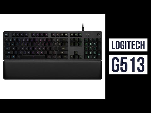Logitech G513 RGB Backlit Mechanical Gaming Keyboard with Romer-G Tactile Keyswitches Carbon