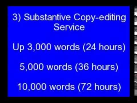 Academic editing services youtube