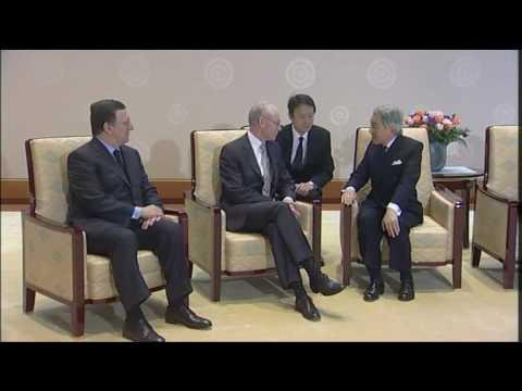 Van Rompuy visits AKIHITO, Emperor of Japan