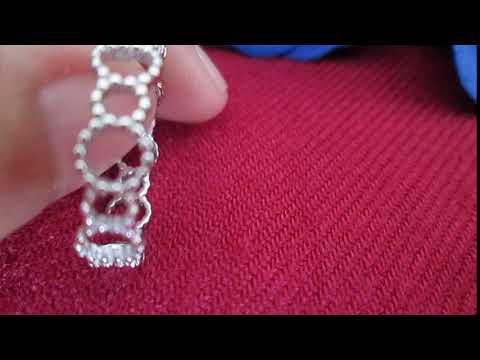 Nhẫn bạc nữ vòng tròn khắc rãnh