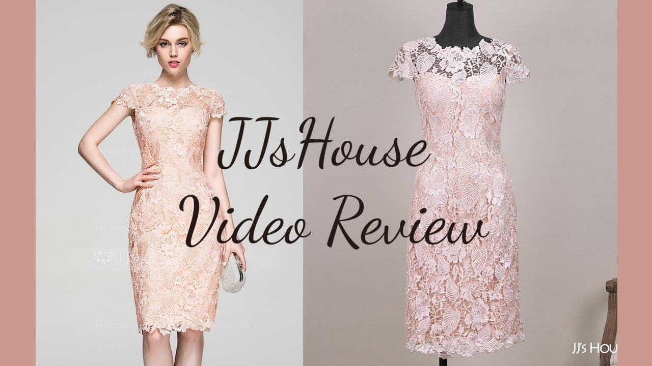 524e20c3 Cocktail Dress 81199丨Column Scoop Neck Knee-Length Lace Dress - JJ's House