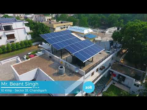 Live Solar System in Chandigarh Sector 33 - By Zolt Energy