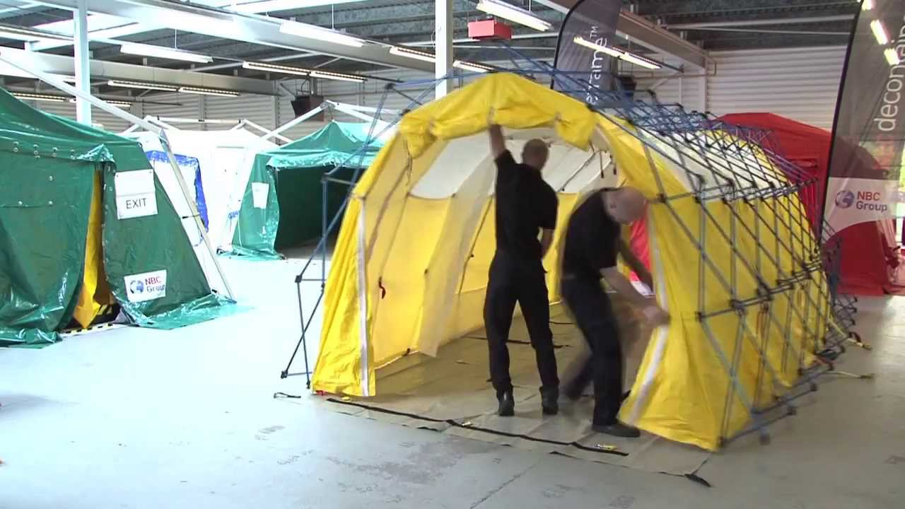 GRS - Articulated 2 line Decon Shelter & GRS - Articulated 2 line Decon Shelter - YouTube