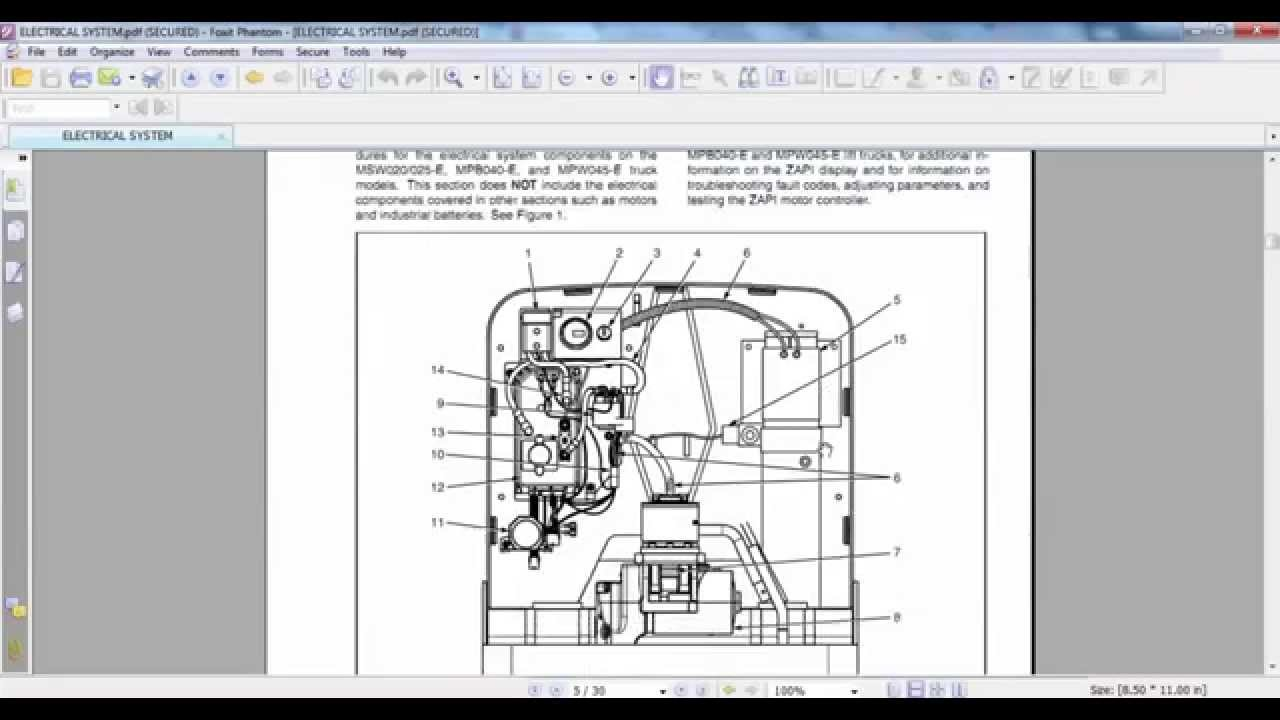 Yale Lift Truck Wiring Diagram Diagrams Forklift Coil 12v Electric For Mpb040 E B827 Mpw045 B802 Service Maintenance Eletrical