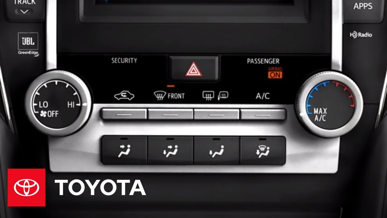 2012 Camry How-To: Manual AC | Toyota