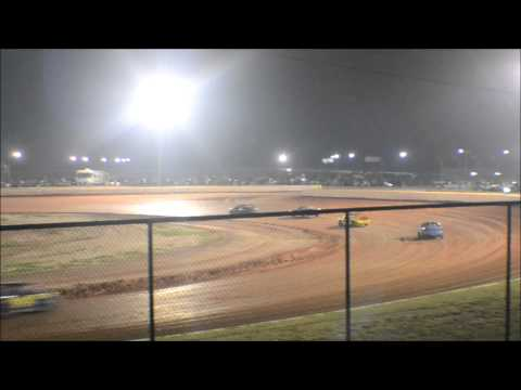 12 year old jordan fowler feature race golden isles speedway 9-5-15 G.I.S 440 show down