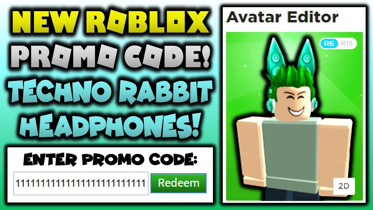OMG NEW PROMO CODE Teal Techno Rabbit Headphones (ROBLOX