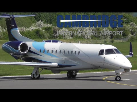 Beautiful Embraer Legacy 600 Departure at Cambridge Airport
