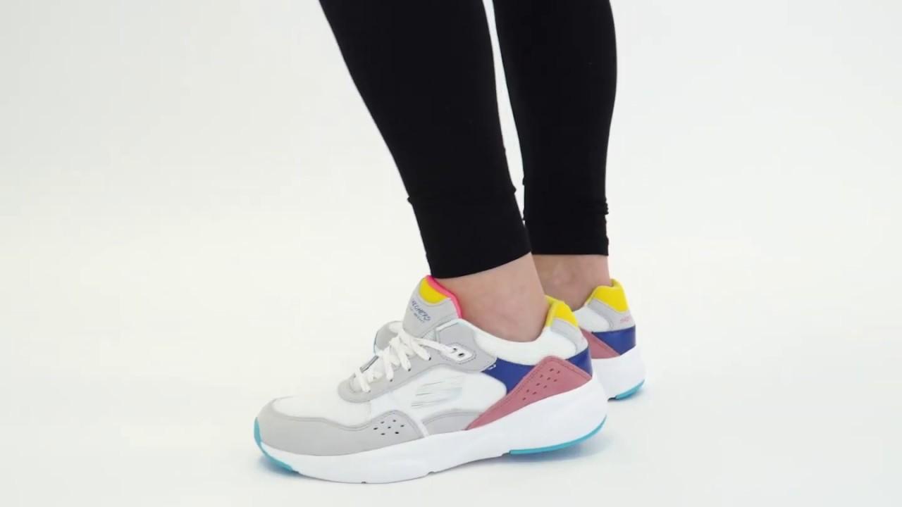 fácil de lastimarse Ahorro colección  Shuperb™ Skechers MERIDIAN NO WORRIES 13020/WMLT Ladies Trainers  White/Multi - YouTube