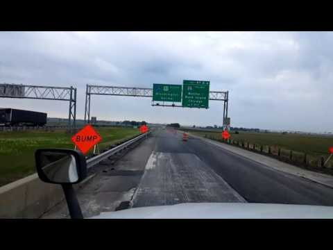 Bigrigtravels Live! Rochelle,  Illinois to Bloomington Interstate 39 August 10, 2016