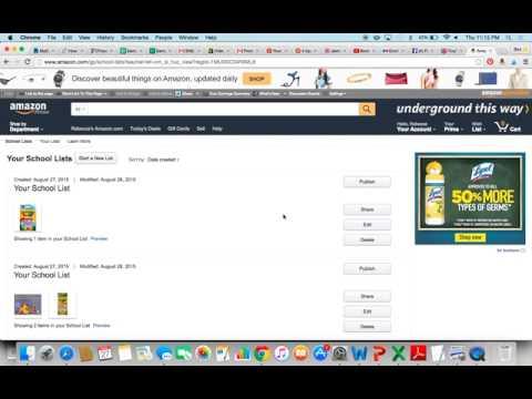 How to Make a School Wish list on Amazon