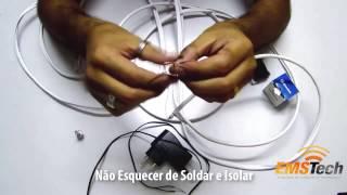 Como Instalar e Ligar uma Mini Camera CFTV usando Cabo Coaxial Bipolar(Vídeo Aula ensinando como fazer a ligação dos fios de uma Mini Camera usando um cabo Coaxial Bipolar para ligação de imagem e energia elétrica., 2014-04-17T02:31:00.000Z)
