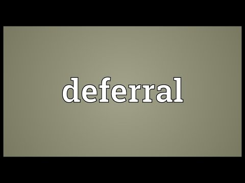 Deferral Meaning