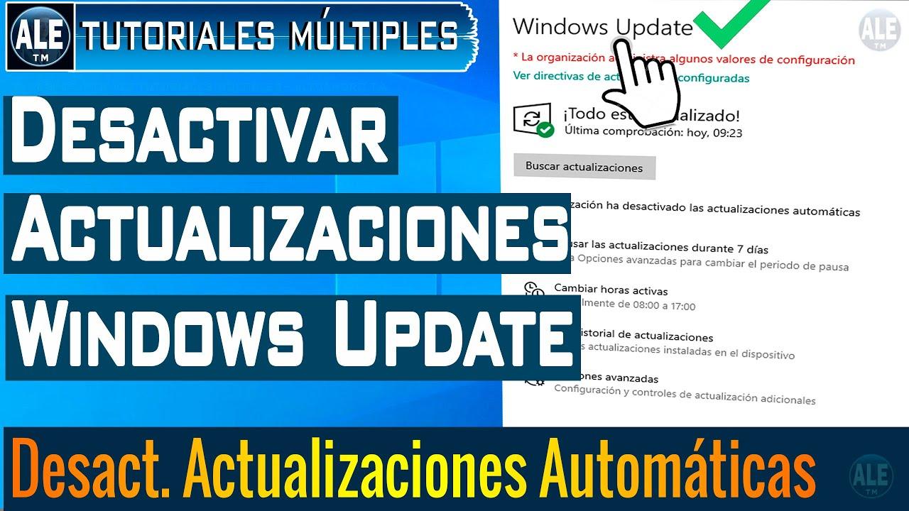 Como Desactivar Actualización Automática En Windows 10