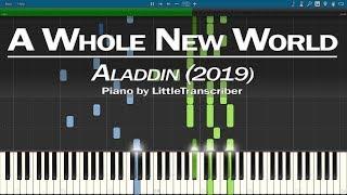 Gambar cover Aladdin (2019) - A Whole New World (Piano Cover) Mena Massoud & Naomi Scott Version by LT