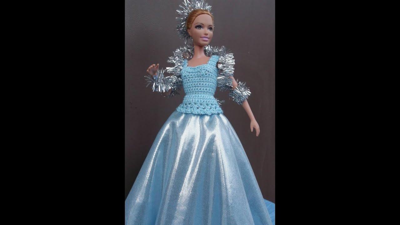 Вязание крючком платье для куклы барби