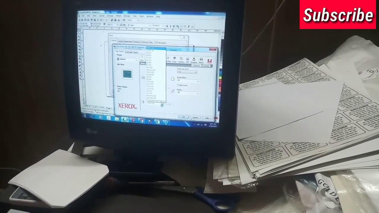 Envelope printin In Xerox DC 240,242,252,260 550,560,7765,7775 WC7500