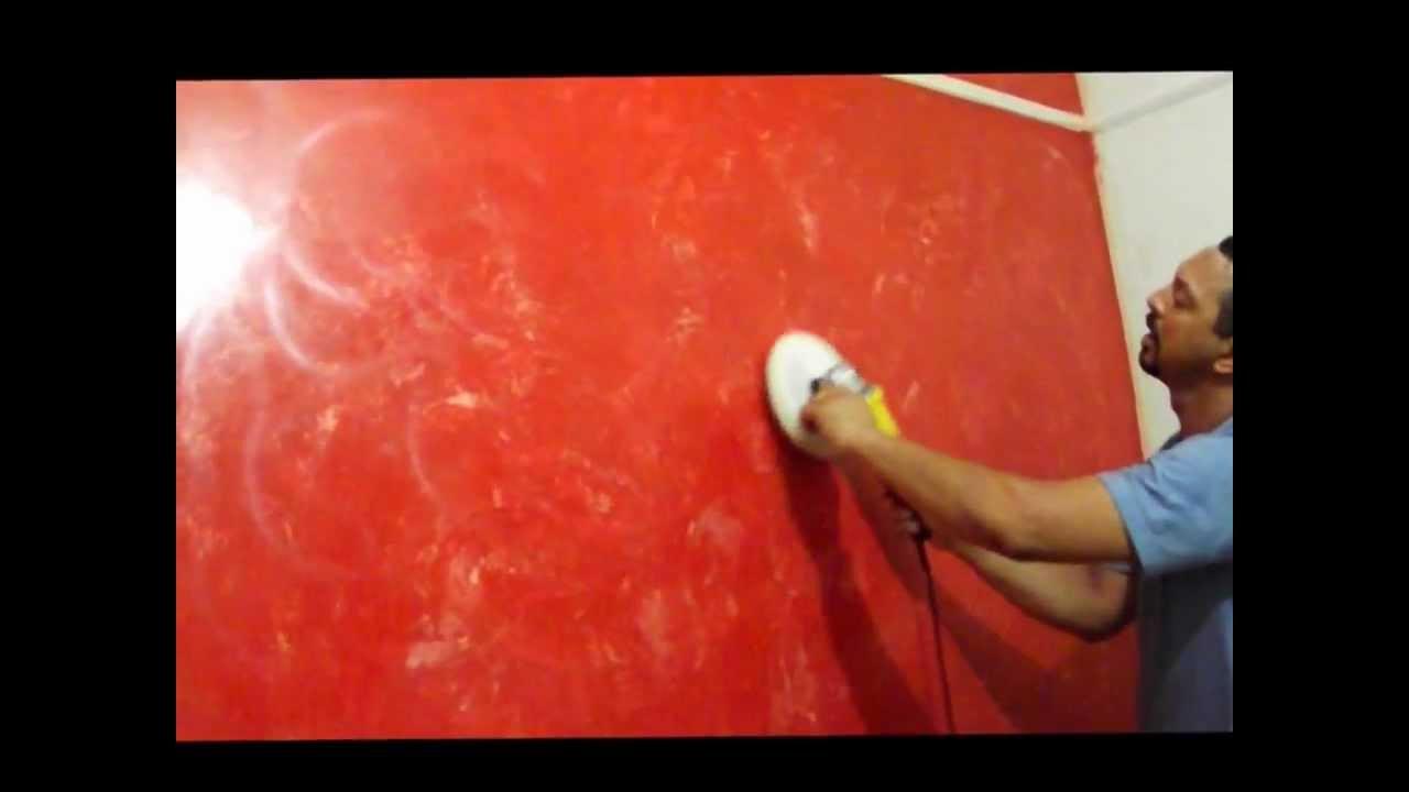 Parede com efeito m rmore vermelho com pigmento branco - Pintura lavable para paredes ...