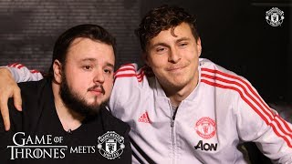 Game of Thrones' John Bradley goes behind the scenes at Manchester United | GOT | Season 8