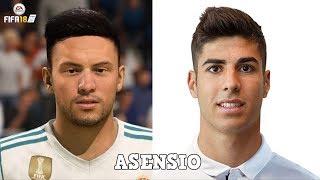 Fifa 18 worst faces | ft. marco asensio, rabiot, carrasco... etc