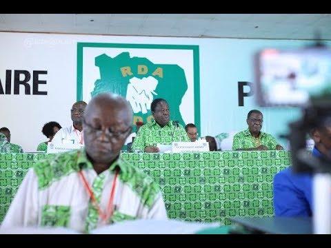 Le discours de Bédié au 6ème congrès extraordinaire du PDCI RDA  à Daoukro