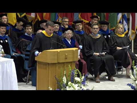 Kevin Plank, Founder, Chairman and CEO of Under Armour, speaks at Duke Fuqua Commencement 2018