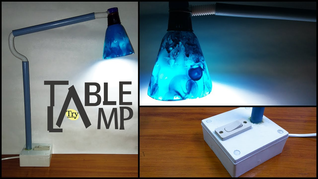 How To Make Simple Homemade Table Lamp