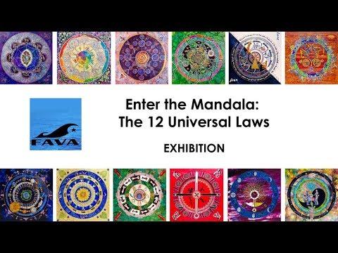 The 12 Universal Laws Mandala Exhibition- FAVA 2018