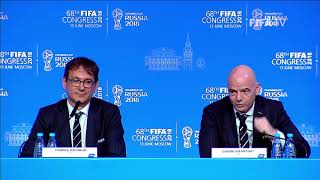 REPLAY - 68th FIFA Congress 2018 - Press Conference