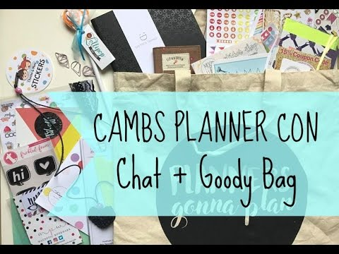 CAMBS PLANNER CON 2017 | 2 | Chat + Goody Bag