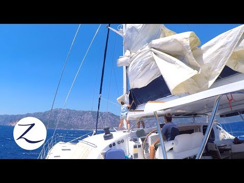Our First Solo Sail – Catamaran Sailing Greece to Turkey (Sailing Zatara Ep 51)