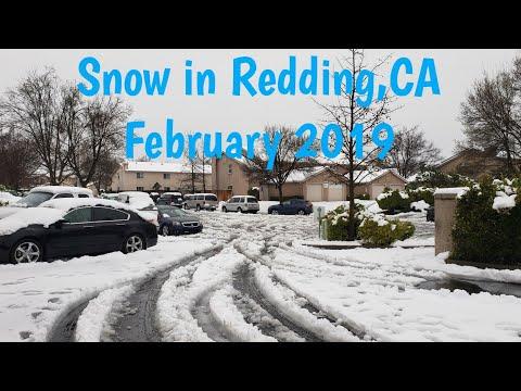Snow In Redding,CA February 13th 2019