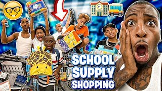 TOOK THE KID'S SCHOOL SUPPLY SHOPPING!! (BACK TO SCHOOL)